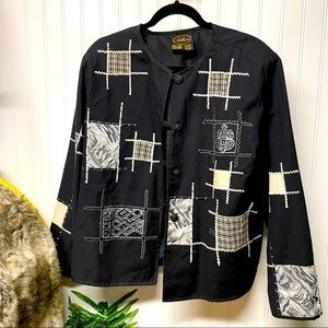 ALLURE Size Missy Large Patch jacket button-front